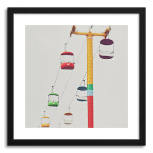 hide - Art print Carnival Candy by artist Myan Soffia in white frame