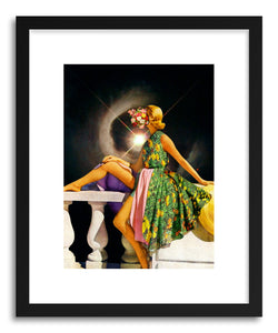 hide - Art print Space Diva by artist Taudalpoi in natural wood frame