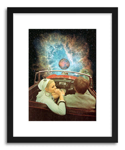 hide - Art print Space Ride by artist Taudalpoi in white frame