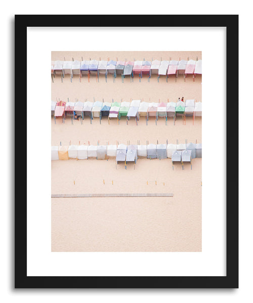 Fine art print Beach Huts by artist Ingrid Beddoes