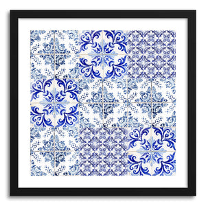hide - Art print Azulejos II by artist Ingrid Beddoes in white frame