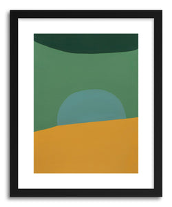 hide - Art print Sunny Side Up by artist Amy Bramante in white frame