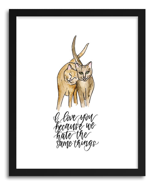 Fine art print Cats Hate Same Stuff by artist Peggy Dean