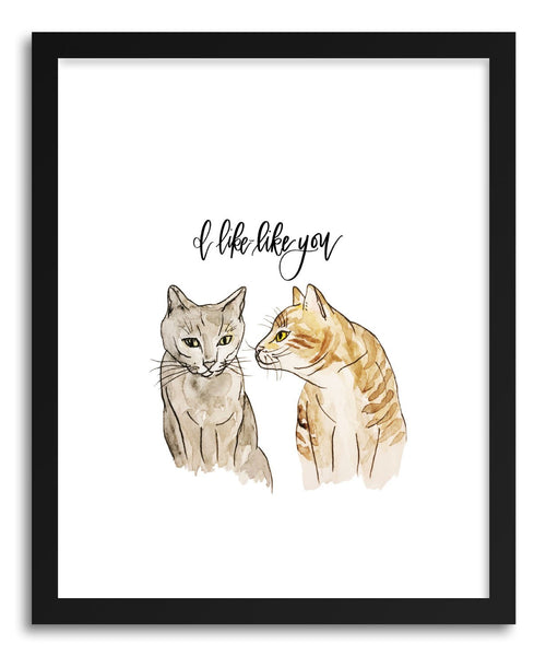 Fine art print Cats Like Like You by artist Peggy Dean