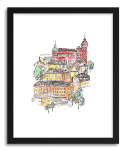 Fine art print European Hillside Stockholm by artist Peggy Dean