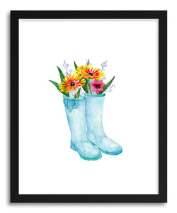 hide - Art print Flower Farm Garden Boots by artist Peggy Dean on fine art paper