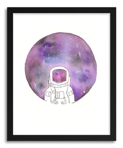 hide - Art print Galaxy Eyes Astronaut by artist Peggy Dean in white frame