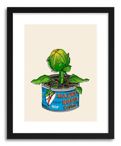 hide - Art print Audrey II by artist Peggy Dean in white frame
