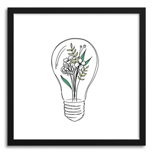 Fine art print Grow Ideas Lightbulb by artist Peggy Dean