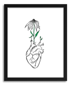 hide - Art print Grow Passion Heart by artist Peggy Dean in white frame