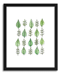 hide - Art print Leaf Taxonomy by artist Peggy Dean in natural wood frame