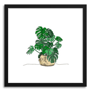 hide - Art print Monstera by artist Peggy Dean in natural wood frame