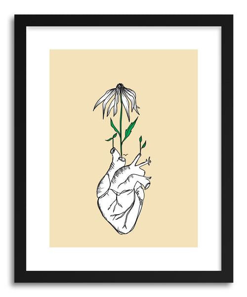 Fine art print Passion Hybrid Heart Flower by artist Peggy Dean
