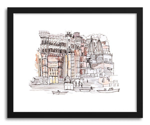 hide - Art print Varanasi India by artist Peggy Dean on fine art paper