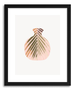 hide - Art print Palm Vase by artist Susu Stolle in white frame