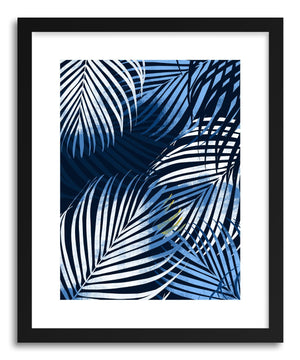 Fine art print Palm Trees Blue by artist Susu Stolle