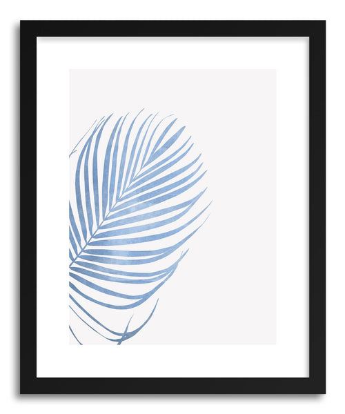 Fine art print Blue Palm Leaf by artist Susu Stolle