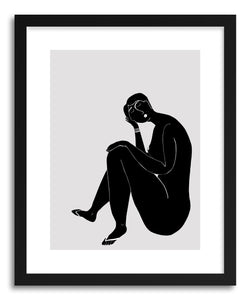 hide - Art print Listen To The Own Inner Voice by artist Susu Stolle in natural wood frame
