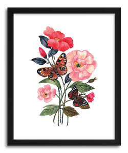 Fine art print Florals And Butterflies by artist Ploypisut