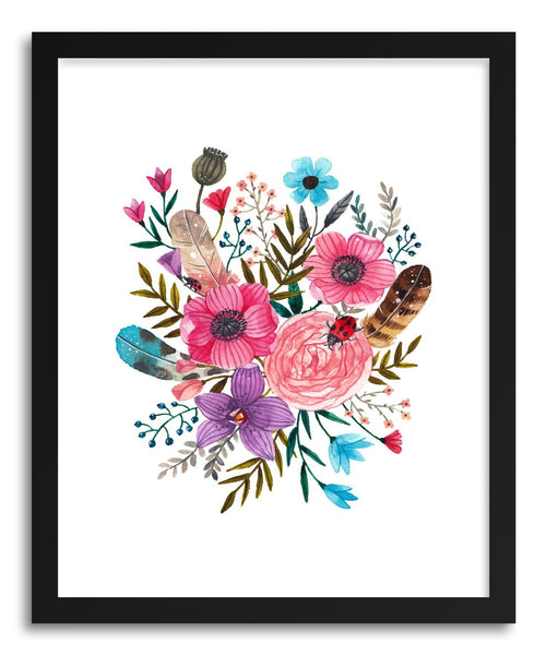 Fine art print Florals And Ladybug by artist Ploypisut