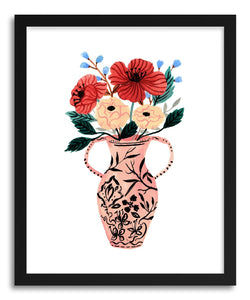 hide - Art print Pink Vase by artist Ploypisut on fine art paper