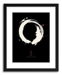 Fine art print Enso Black by artist Thoth Adan