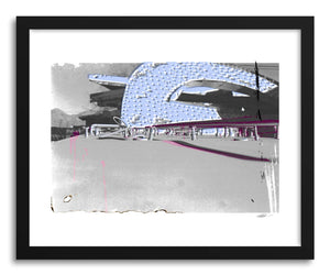 hide - Art print Neon Highway by artist Michael Corrente in white frame