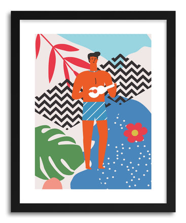 Fine art print Guitar Man by artist Seija Chowdhury