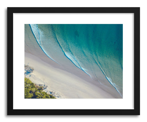 Fine art print Byron Curved Waves by artist Wes Lewis