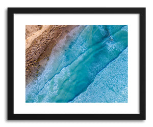 hide - Art print Stone & Surf by artist Wes Lewis on fine art paper