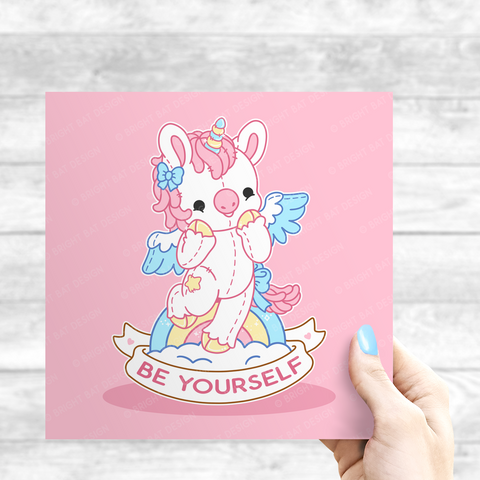 Be Yourself Unicorn Print