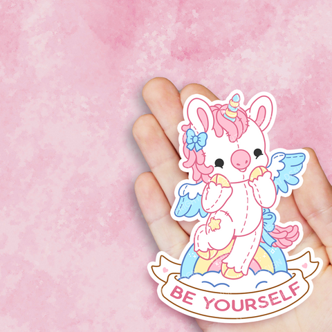 Be Yourself Unicorn Vinyl Sticker