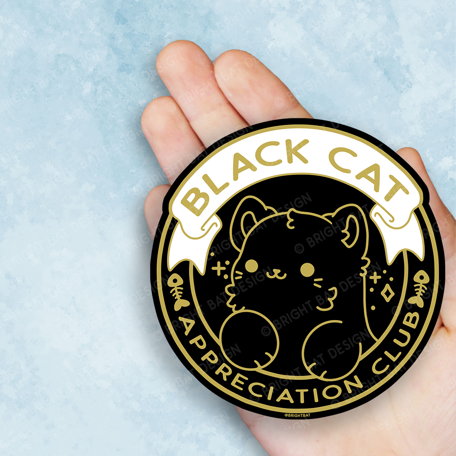 Black Cat Appreciation Club Vinyl Sticker