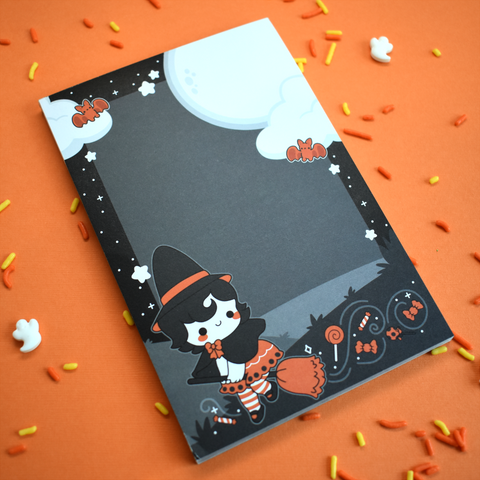 Vintage Halloween Witch Notepad