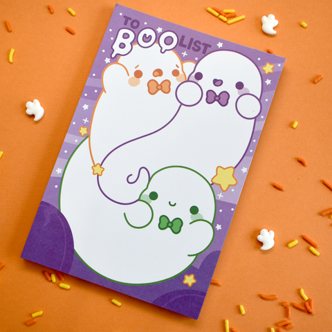 To Boo List Ghosts Notepad