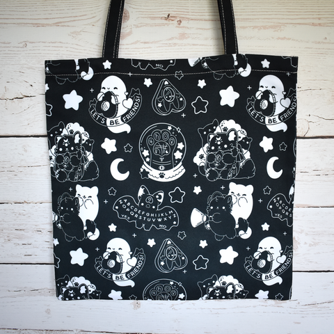 Black Paranormal Nuggets Zipper Tote
