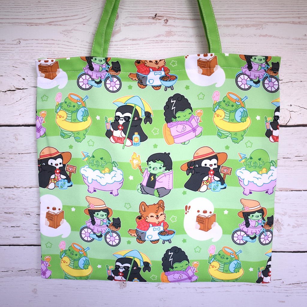 Vacation Monsters Zipper Tote