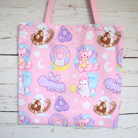 Pastel Paranormal Nuggets Zipper Tote