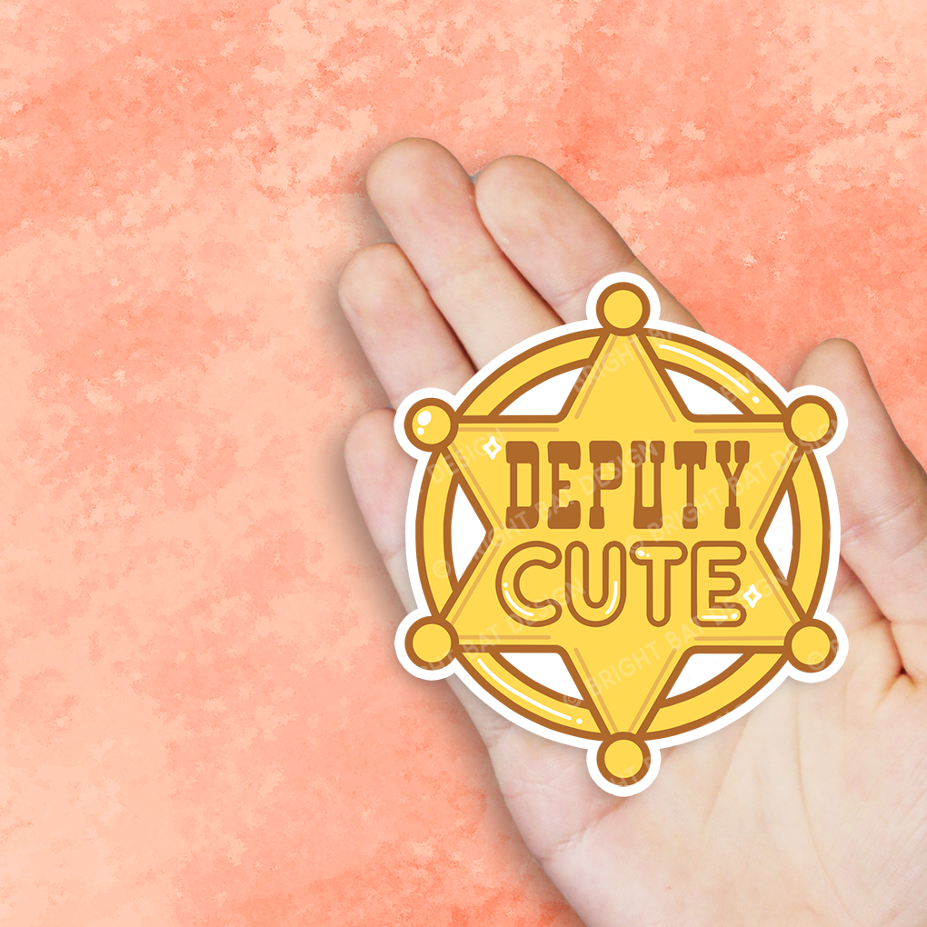 Deputy Cute Badge Vinyl Sticker