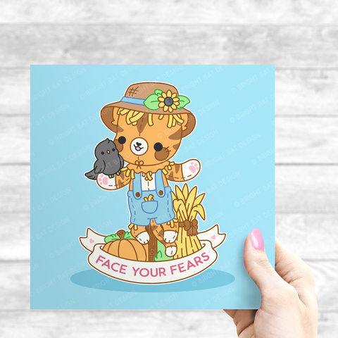 Face Your Fears Scarecrow Cat Print