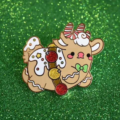 Gingerbread Rudolph the Reindeer Enamel Pin