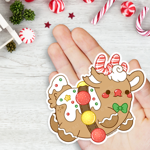 Gingerbread Rudolph Vinyl Sticker