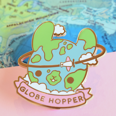 Globehopper Travel Enamel Pin