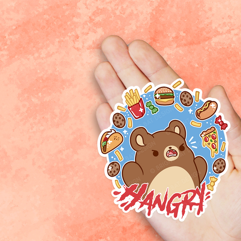 Hangry Bear Vinyl Sticker