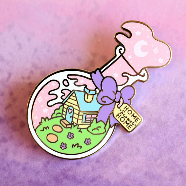 Home Sweet Home in a Bottle Enamel Pin