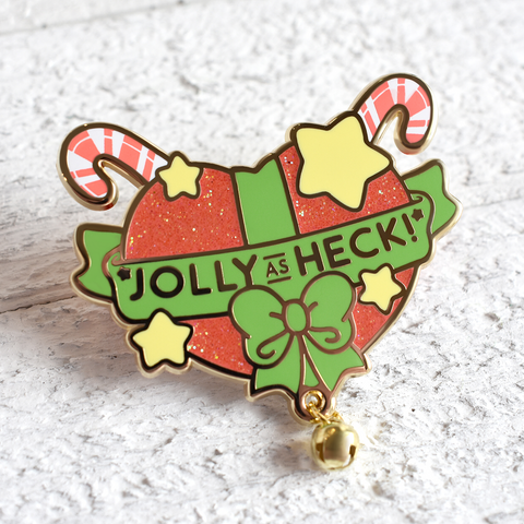 Jolly As Heck Enamel Pin