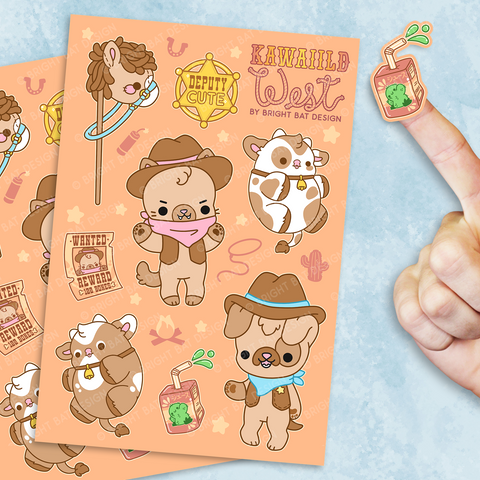Kawaiild West Sticker Sheets (2 Pack)