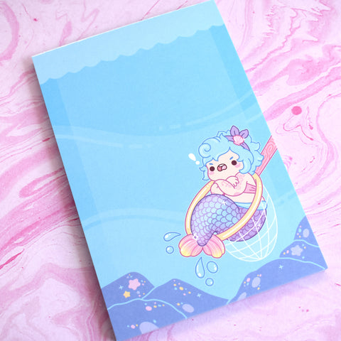 Caught Mermaid Notepad