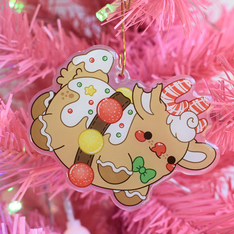 Gingerbread Rudolph Charm Keychain / Ornament