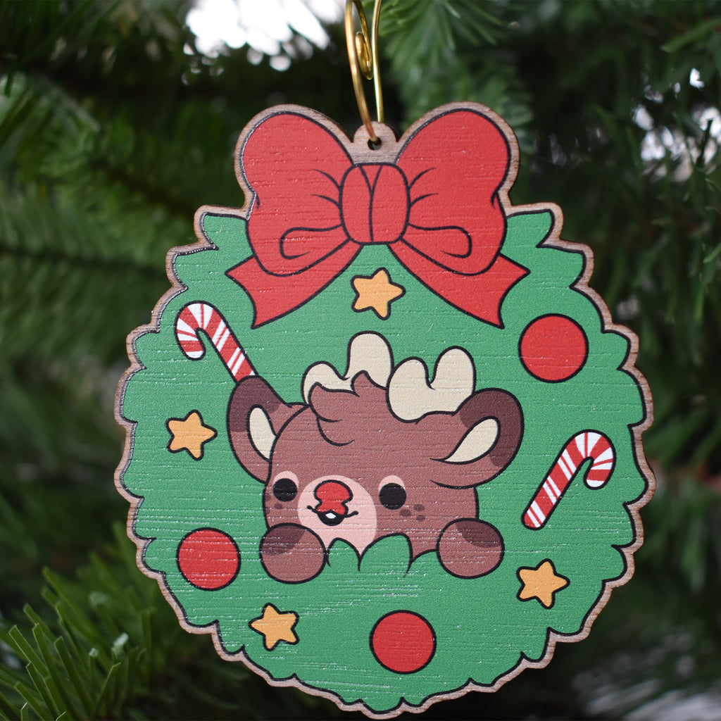 Rudolph the Reindeer Wooden Ornament